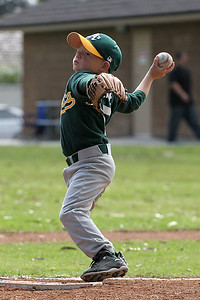 #05 Christopher Kane in the pitcher's position. Athletics vs. Astros, 2006 North Side Little League Baseball, Tee Ball Division