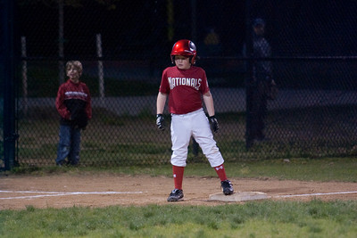 Christopher steals 3rd base on a passed ball. The Nationals came up a little short in an exciting finish and were outscored by the Brewers 6-8. They are now 1-1 for the season. 2010 Arlington Little League Baseball, Majors Division. Nationals vs Brewers (14 Apr 2010) (Image taken by Patrick R. Kane on 14 Apr 2010 with Canon EOS-1D Mark II at ISO 1600, f2.8, 1/250 sec and 200mm)