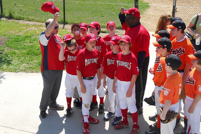 Majors Nationals on Opening Day of the 2010 Arlington Little League baseball season. (Image taken by Patrick R. Kane on 11 Apr 2010 with COOLPIX S570 at ISO 80, f3.7, 1/400 sec and 9.6mm)