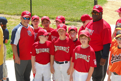 Majors Nationals on Opening Day of the 2010 Arlington Little League baseball season. (Image taken by Patrick R. Kane on 11 Apr 2010 with COOLPIX S570 at ISO 80, f4.4, 1/250 sec and 13.2mm)