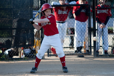 Christopher watching strike three go by. The Nationals struggled against the league's best pitcher and lost 1-10 to the Orioles. They are now 1-2 for the season. 2010 Arlington Little League Baseball, Majors Division. Nationals vs Orioles (17 Apr 2010) (Image taken by Patrick R. Kane on 17 Apr 2010 with Canon EOS-1D Mark II at ISO 200, f2.8, 1/1000 sec and 200mm)