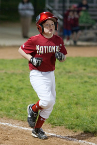 Christopher gets a walk to load the bases. The Nationals came up a little short in an exciting finish and were outscored by the Brewers 6-8. They are now 1-1 for the season. 2010 Arlington Little League Baseball, Majors Division. Nationals vs Brewers (14 Apr 2010) (Image taken by Patrick R. Kane on 14 Apr 2010 with Canon EOS-1D Mark II at ISO 1600, f2.8, 1/200 sec and 140mm)