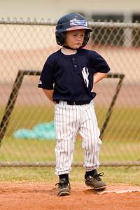 #01 Christopher Kane at 3rd base. Pinto North Side Yankees vs. Angels, 2006 Ocean View Pony Baseball, Pinto Division.