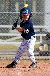 #01 Christopher Kane at bat. Pinto North Side Yankees vs. Indians, 2006 Ocean View Pony Baseball, Pinto Division.