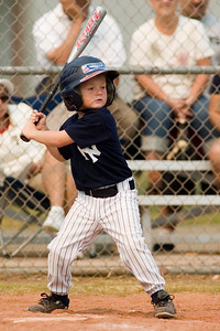 #01 Christopher Kane at bat. Pinto North Side Yankees vs. Angels, 2006 Ocean View Pony Baseball, Pinto Division.