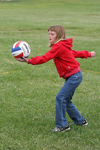 Sydney Kane. Volleyball practice