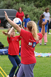 Sydney Kane setting the ball. US Youth Volleyball League.