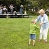 7-1-2005 -- Connor and Aunt Pat cutting the lawn at the Carmel 4th of July weekend celebrations.
