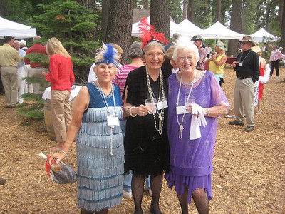 Gathering at the Gatekeepers Museum, 1920s theme. Joy, Marge Bartlett, and Diana Larson.