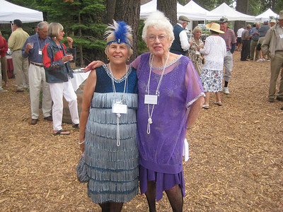 Gathering at the Gatekeepers Museum, 1920s theme. Joy and Diana Larson.