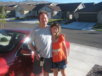 Pat and Stephanie at the end of their visit heading for Las Vegas