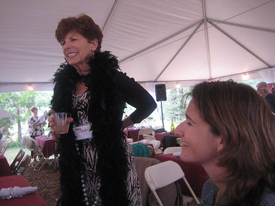 Gathering at the Gatekeepers Museum, 1920s theme. Penny Dupin and Stephanie.