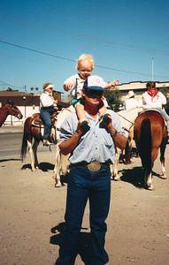 Ryan and Frank Roth, King City, California, ca. July 1989