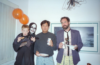 ?, Chris Inaba and Craig Conner. It was a surprise 30th birthday/Halloween party for Patrick Kane at his and Kathy's condo, 2722 Wendy Place, Port Hueneme, California, Oct/Nov 1994