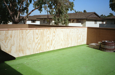 Damn HOA put up a wall that cut our deck space in half at 2722 Wendy Place, Port Hueneme, California, November 1994