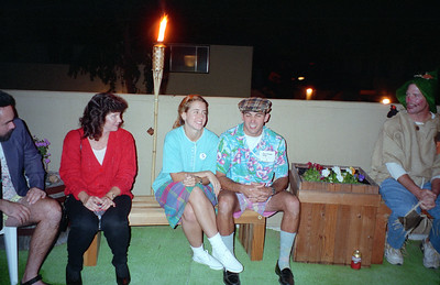 Janet Hernandez, ?, ? and Kevin Mitchell. It was a surprise 30th birthday/Halloween party for Patrick Kane at his and Kathy's condo, 2722 Wendy Place, Port Hueneme, California, Oct/Nov 1994