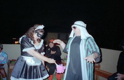 Kim Whittier and Steve O'Conner. It was a surprise 30th birthday/Halloween party for Patrick Kane at his and Kathy's condo, 2722 Wendy Place, Port Hueneme, California, Oct/Nov 1994