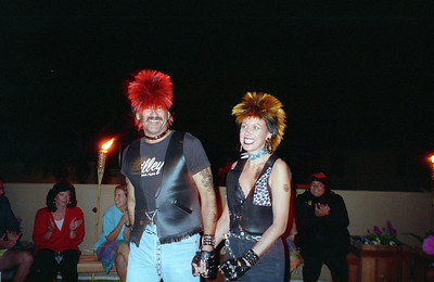 Barry Mosesman and ?. It was a surprise 30th birthday/Halloween party for Patrick Kane at his and Kathy's condo, 2722 Wendy Place, Port Hueneme, California, Oct/Nov 1994