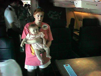 """Working space aboard """"Air Force One"""" at the 1998 DOD Joint Services Open House at Andrews Air Force Base."""
