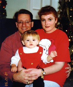 Pat, Kathy and Sydney Kane at the Kennedy-Warren's children's Christmas party.