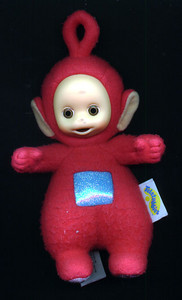 Po--a Teletubby--was one of Sydney's first Christmas presents and she just loved him.
