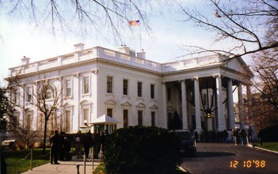 The White House. We just finished a daytime tour to see the beautiful Christmas decorations.