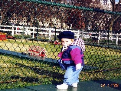 Sydney Jean Kane enjoying the trains set up around the National Christmas Tree. We saw this tree as well as one for each of the 50 states in the Ellipse after our tour of the White House.