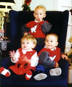 Sydney Jean Kane with Zane (standing) and Remi at the Kennedy-Warren's children's Christmas party.