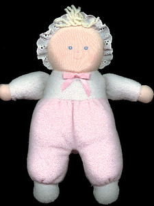 """""""Pinky"""" is one of the dolls that Sydney received for her first Christmas."""