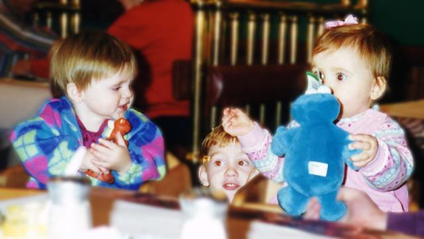 Trade completed. Sydney Jean Kane's Cookie Monster for Rachel Lucas' Tigger. We were able to have dinner with Victor, Lara, Austin and Rachel at the Spaghetti Warehouse in Newport News VA.