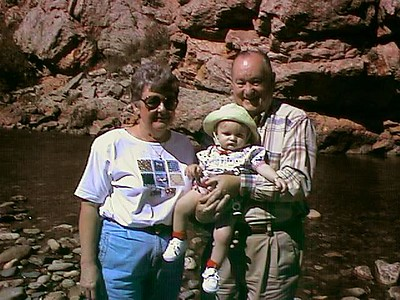 Mary Clare and Grady Kane with their granddaughter, Sydney Jean Kane, on a Colorado outing.