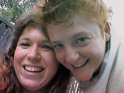 Tracy and Kathy Kane hamming it up in Fort Collins CO.