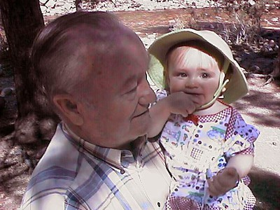 Grady Kane with granddaughter, Sydney Jean Kane, on a Colorado outing.