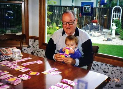 Grady Kane reinforcing the Kane competitive gene into his granddaughter, Sydney Jean Kane
