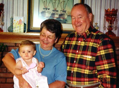 Sydney Jean Kane with grandparents Grady and Mary Clare Kane