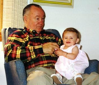 Sydney Jean Kane quite happy to see her grandpa, Grady Kane