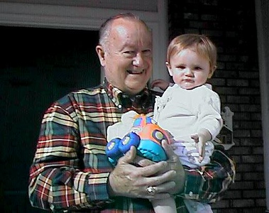 Sydney Jean Kane with Grandpa, Grady Kane