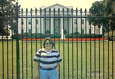 Kathy in front of the White House, our first stop on the Kanemobile tour. Pat picked Kathy up on Thursday at the Ronald Reagan Washington National Airport. Her first Washington experience was the Metro ride home.