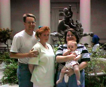 Pat, Kathy and sister, Kathy, with Sydney at the National Gallery of Art.