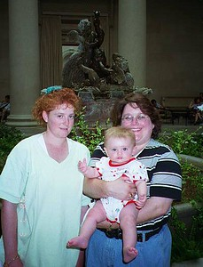 Kathy and Sydney Kane with Aunt KK (Pat's sister) at the National Gallery of Art.