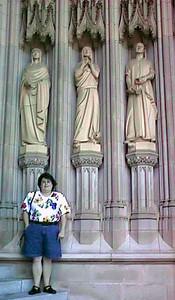 Kathy at the Washington National Cathedral.