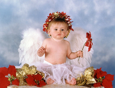 """Sydney Jean Kane, our """"Christmas angel"""" at 9 months old."""