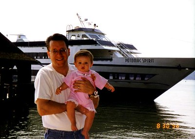 Pat and Sydney Kane at Mount Vernon about to board the Potomac Spirit for a Potomac River cruise.