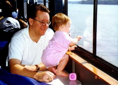 Pat and Sydney Kane aboard the Potomac Spirit on a Potomac River cruise.