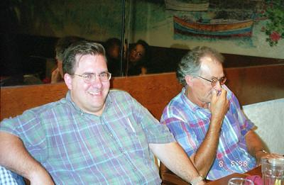 Marty Mardiros and Billy Karrh at Olive Garden, Oxnard CA