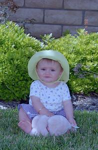 Sydney Jean Kane in the backyard of her home in Oxnard CA