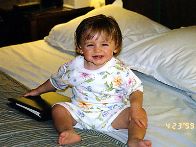 We decided to make a trip to Philadelphia to see the sights. Sydney is all ready for bed.