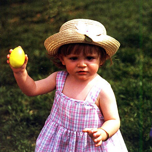 """""""See Mom!"""" Sydney Jean Kane is one pretty happy toddler after nabbing an Easter egg on the front lawn of The Kennedy-Warren."""