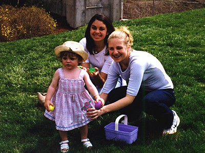 Jennifer and Melissa Nichols with Sydney Jean Kane on the front lawn of The Kennedy-Warren. I'm not sure who had more fun during the Easter egg hunt.