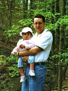 Patrick and Sydney Jean Kane enjoying their hike with Kathy through Rock Creek Park.